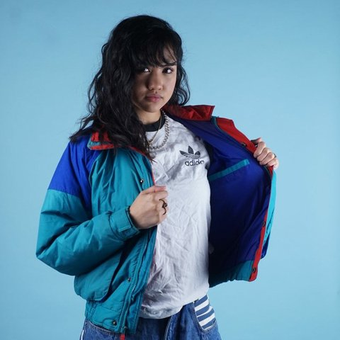 Vintage 90s Colorblock windbreaker Mens | S womens M