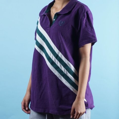 Vintage 90s Colorblock polo shirt Mens | S womens M