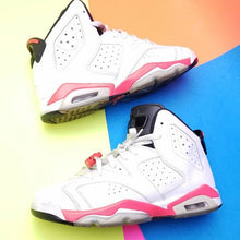 "Load image into Gallery viewer, AIR JORDAN 6 RETRO ""INFRARED 2014"" Sneaker GS sz 7y"