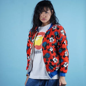 Crazy RARE Mickey INC Reversible Bomber Jacket Mens | S Womens M