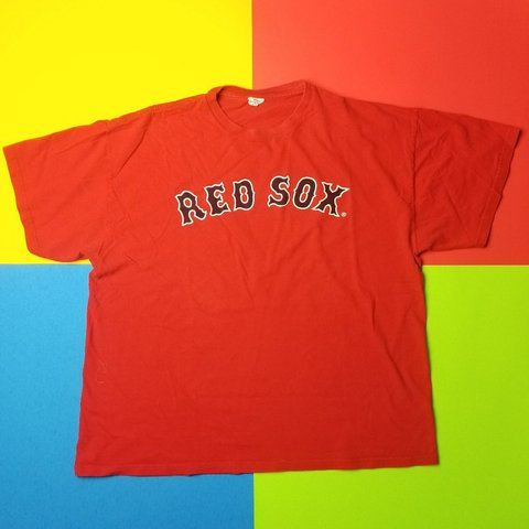 y2k Boston Red Sox MLB Baseball spellout t shirt XL