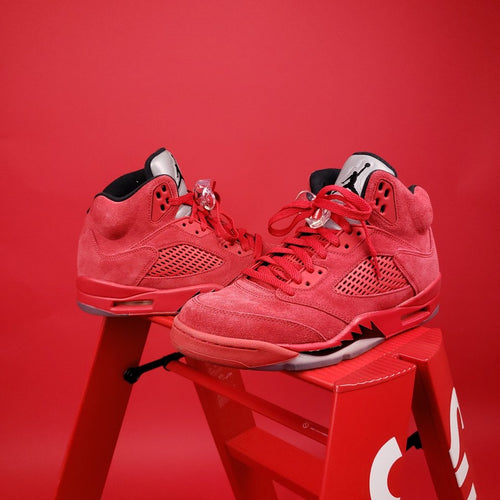 Air Jordan 5 Retro 'Red Suede Mens 8.5