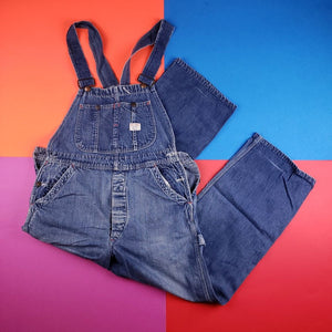 Vintage 80s Union Made BIG MAC Dark Wash Denim Overalls Mens XXL