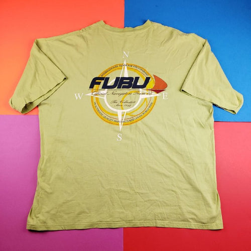 Vintage 90s FUBU Sailing huge double sided graphic t shirt mens XXL