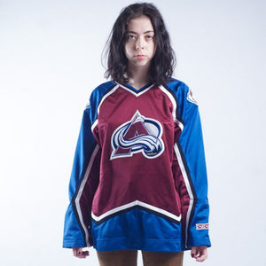 Colorado Avalanches Ice Hockey Team Jersey Stitched Womens L