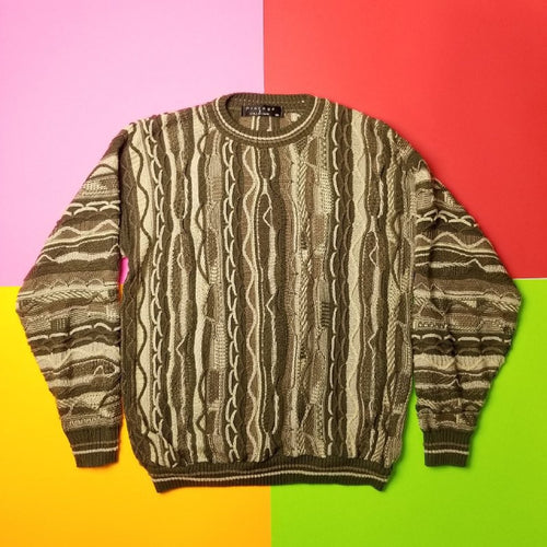 Vintage Coogi Style Sweater Protoge Olive Mens M