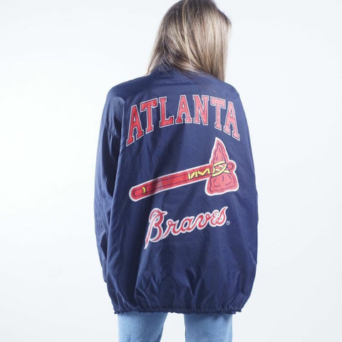 Vintage 90s APEX One Atlanta Braves windbreaker jacket Mens M/L