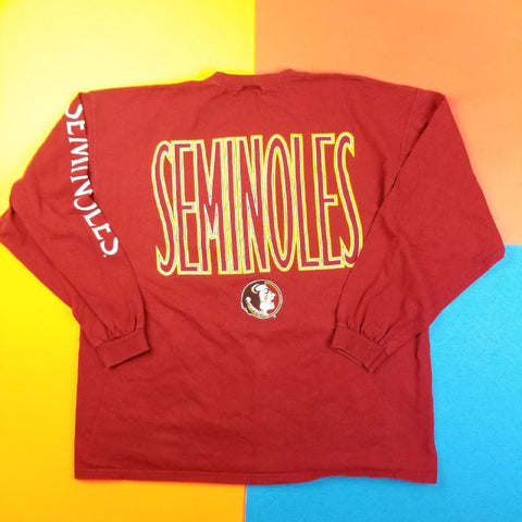 Vintage 90s Florida State University Seminoles long sleeve Mens | XL