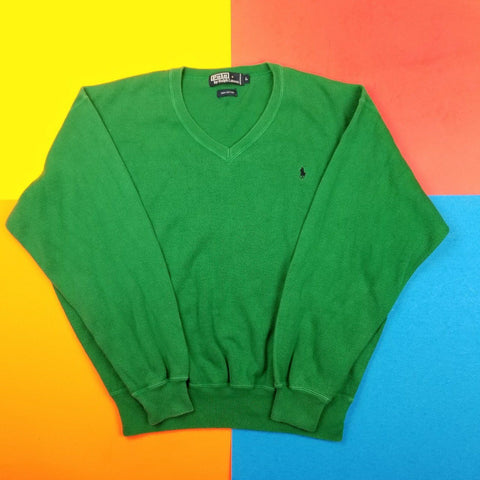 Vintage 90s Polo Ralph Lauren V Neck sweater Mens | L