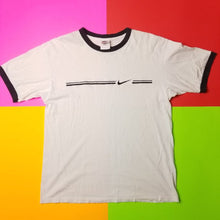Load image into Gallery viewer, VIntage 90s Nike Swoosh Ringer T shirt Mens M