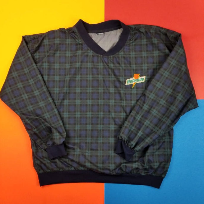 Vintage 90s Gatorade plaid pullover sweater Mens | XL