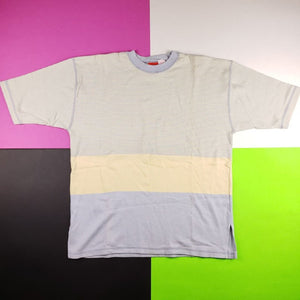 Vintage Liz&Co colorblock striped t shirt mens M