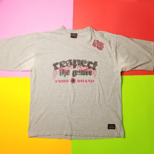 y2k FUBU Respect The Game T Shirt  2XLT