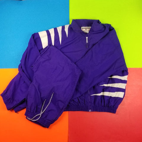 Vintage Style PRE GAME Colorblock Windbreaker Track Set Mens | XL