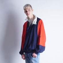 Load image into Gallery viewer, Vintage 90s Nautica crazy colorblock henley sweater Mens | L