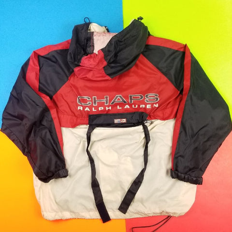 Vintage 90s Chaps Ralph Lauren Colorblock jacket Packable Mens | L