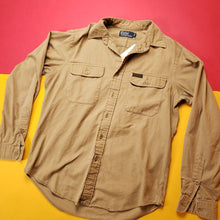 Load image into Gallery viewer, Vintage Khaki Polo Ralph Lauren Lonsleeve Utility Shirt Mens sz M