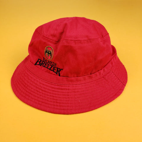 "Bacardi ""BREEZER"" Red Bucket Hat"
