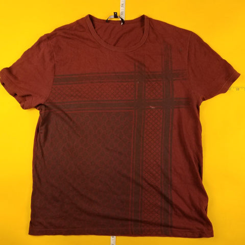 Maroon Gucci Abstract Design T-Shirt Mens sz M