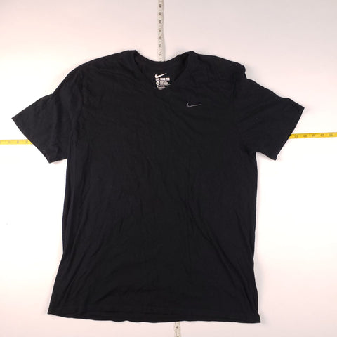 Y2K Nike Black Jewel Swoosh T-Shirt Mens sz XL