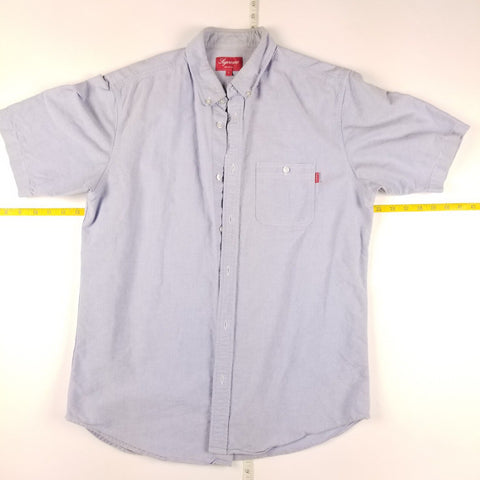 Supreme S/S Oxford Light Blue Button Up Casual Shirt Mens sz L
