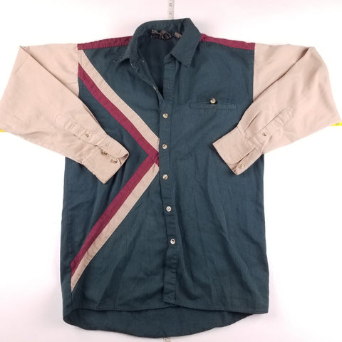 Vintage Spindle River Western Geometric Shirt Mens sz S