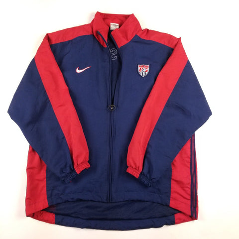 Vintage Y2K Nike Jewel Swoosh Team USA Soccer Navy Jacket Mens sz M