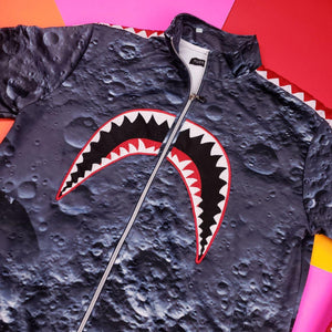 Hudson Bape Style Shark Mouth Moon Space 2 Piece Track Suit Mens Medium