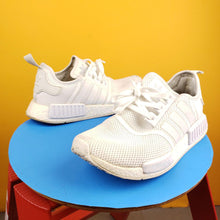 Load image into Gallery viewer, ADIDAS NMD R1 All White Sneakers Mens 9.5