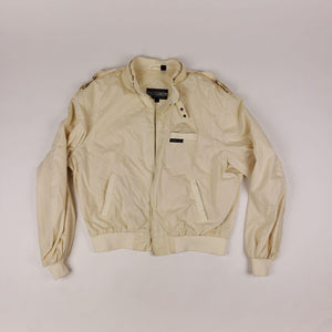 Vintage Members Only Zip Up Jacket Off White Cream Mens sz 46