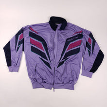 Load image into Gallery viewer, Retro 70s Adidas Purple Track Jacket Mens sz XL