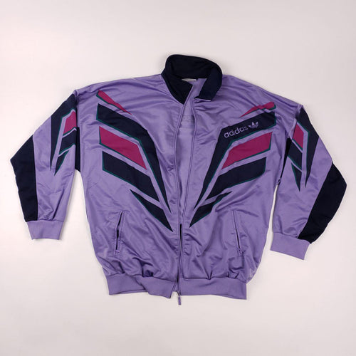 Retro 70s Adidas Purple Track Jacket Mens sz XL