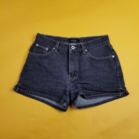 Vintage Black Guess Shorts Made in USA sz 28W