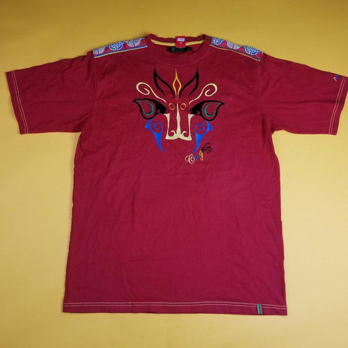 Y2k Coogi Embrioidered Giraffe Abstract T Shirt Mens 2XL