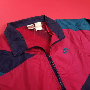 Vintage 80s Nike Navy MultiColored Anorak Mens sz L