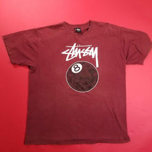 Load image into Gallery viewer, Stussy x Ubiq Collab Maroon Tee Shirt Mens sz XL