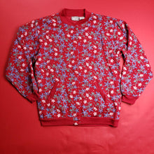 Load image into Gallery viewer, Vintage 90s floral all over print cardigan sz L