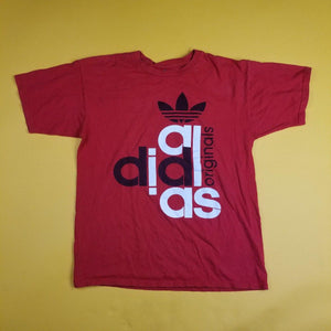 Adidas originals basic Red TreyFoil Logo Tee