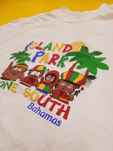 Vintage 90s ' ISLAND PARK ' Gone South t shirt!  Mens XL
