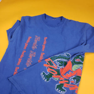 vintage blue and orange gators tshirt mens L