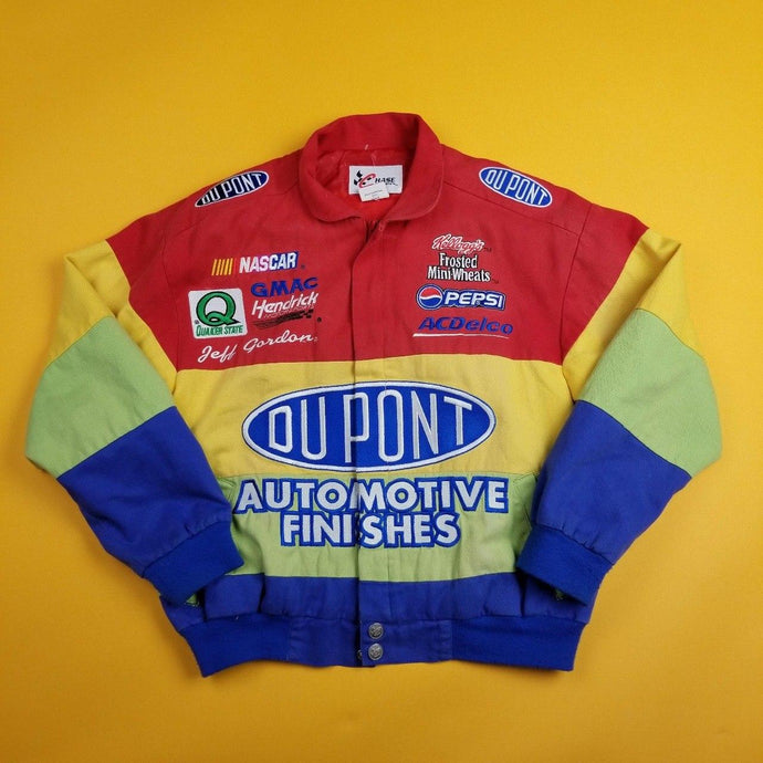 Vintage Multicolored Dupoint Racing Jacket  Mens sz L