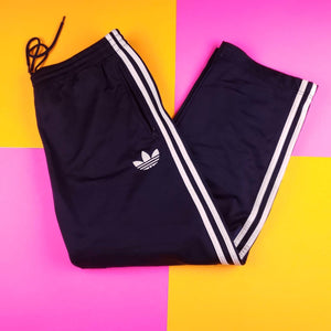 Navy Blue Adidas  Treyfoil track pants mens size Large