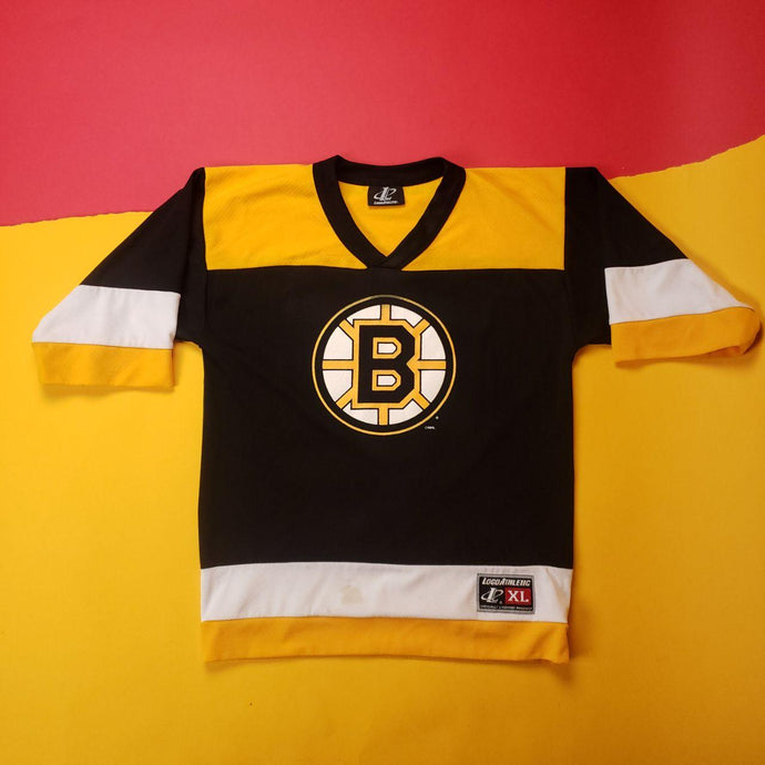 NHL Pittsburgh style Black and Yellow Hockey Jersey Mens size XL