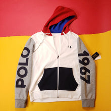 Load image into Gallery viewer, Polo Ralph Lauren Colorblocked Zip-up Hoodie
