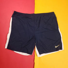 Load image into Gallery viewer, Vintage Navy Nike Swimtrunks Mens size L