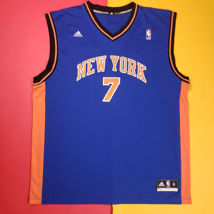 Authentic Adidas NBA New York Knicks Carmelo Anthony 7 Blue Jersey Mens sz XL