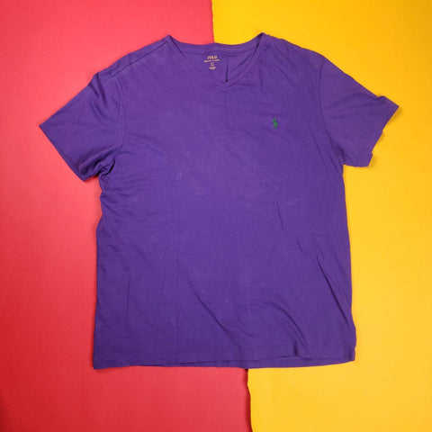 Y2K Purple Polo Ralph Lauren T-Shirt Mens sz L