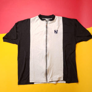 Vintage New York Zip-Up Baseball Style Shirt Mens sz XXL