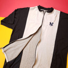 Load image into Gallery viewer, Vintage New York Zip-Up Baseball Style Shirt Mens sz XXL