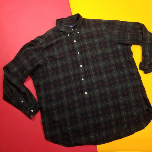 Vintage Polo Ralph Lauren Plaid Button Up Flannel Mens sz XL